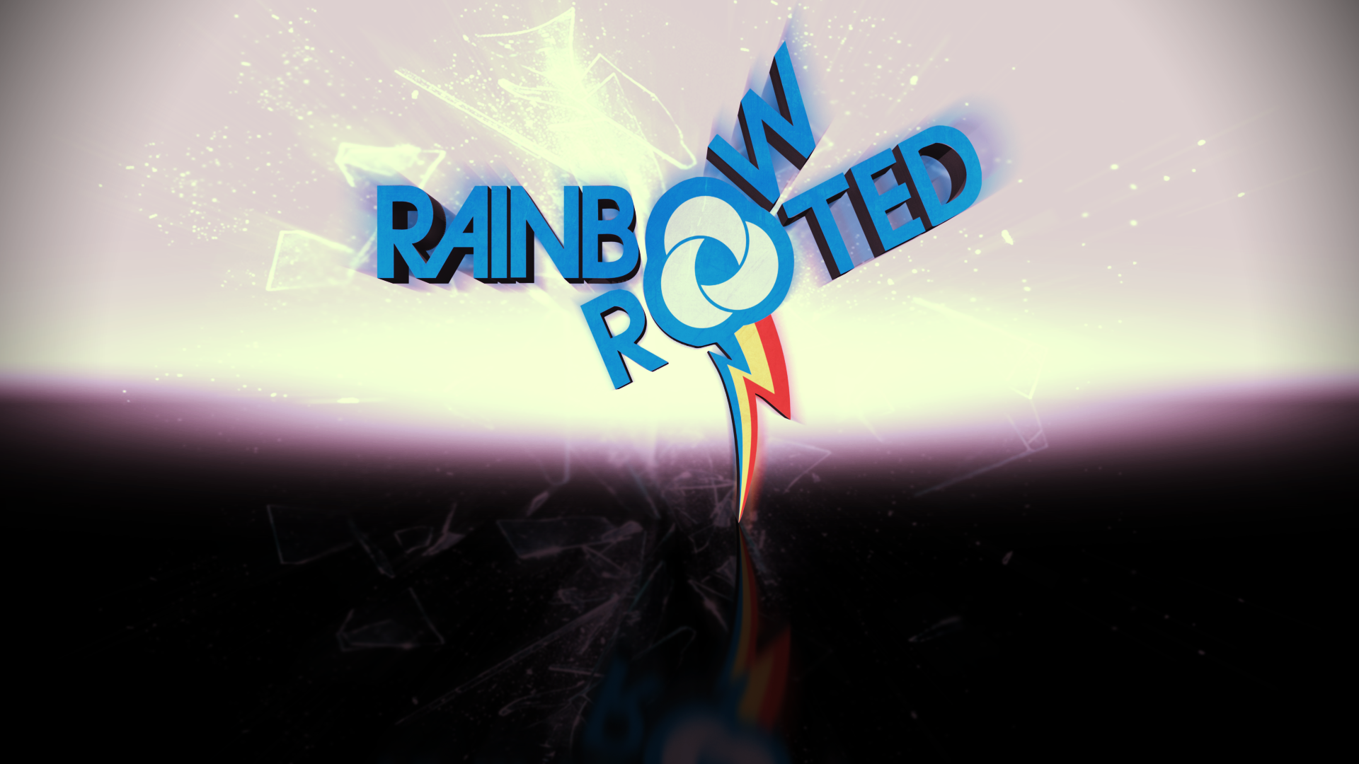 Rainbow and Rooted 3D by BronyYAY123