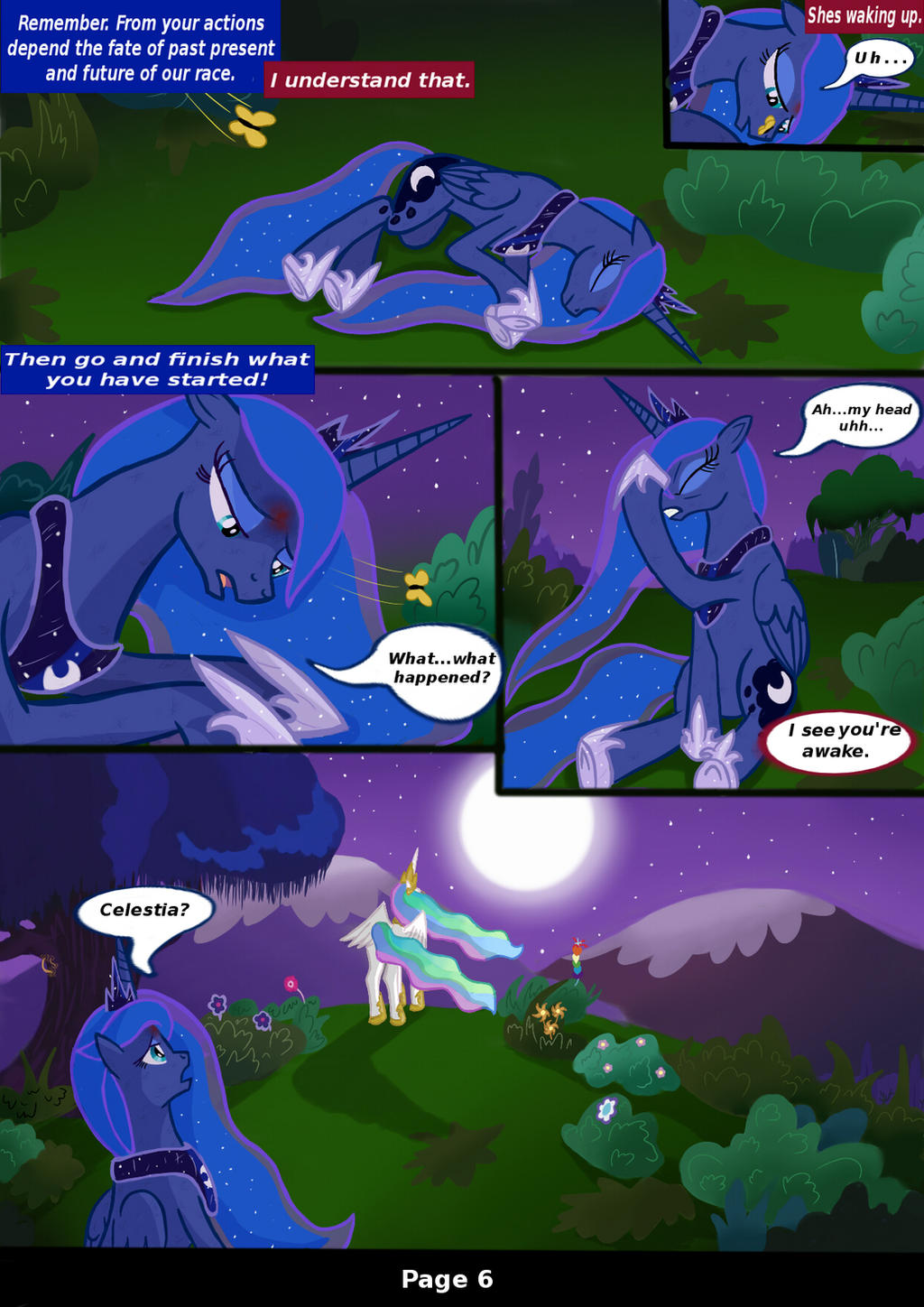 MLP: FIM Rising Darkness Page 6 by Bonaxor
