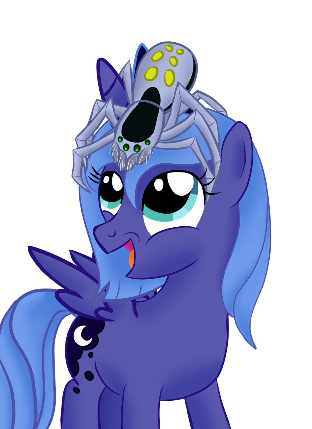 Luna with her first pet. by Bonaxor