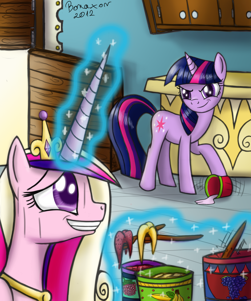 My little pony cadence and shining armor baby