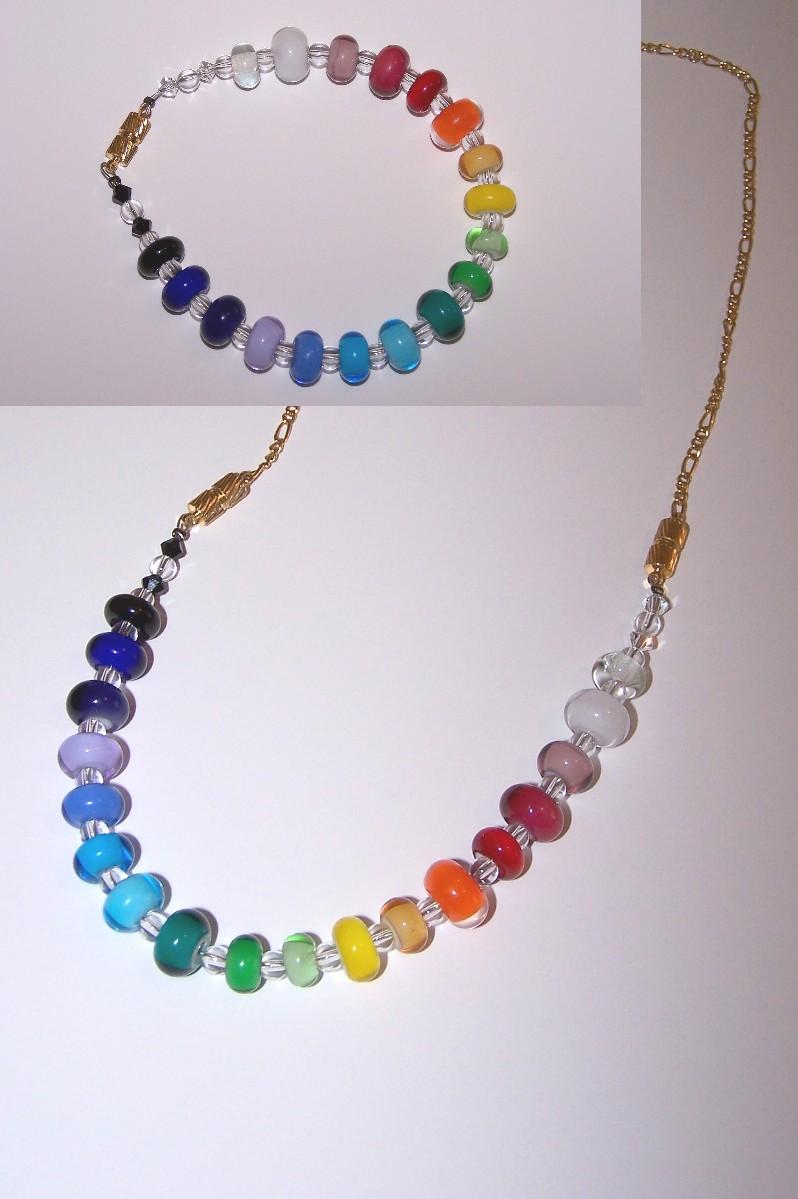 Rainbow bracelet-necklace by jo-the-phoenix