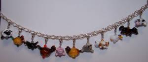 Farm animal bracelet by jo-the-phoenix