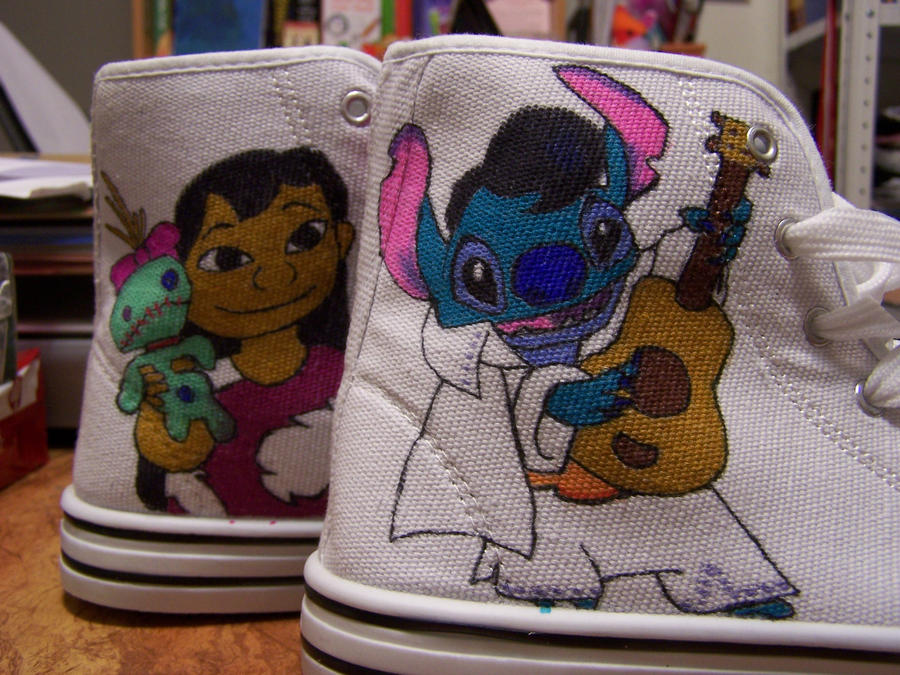 Lilo and stitch shoes by jo the phoenix on deviantart for Lilo and stitch arts and crafts