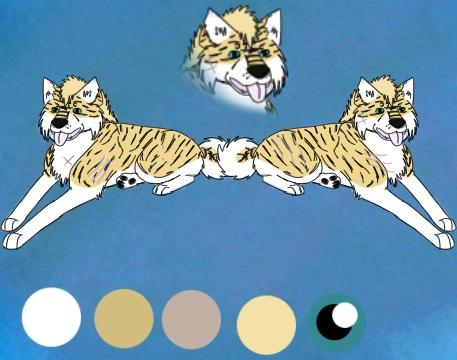 Lynx fearl ref sheet by blueshinewolfstar1