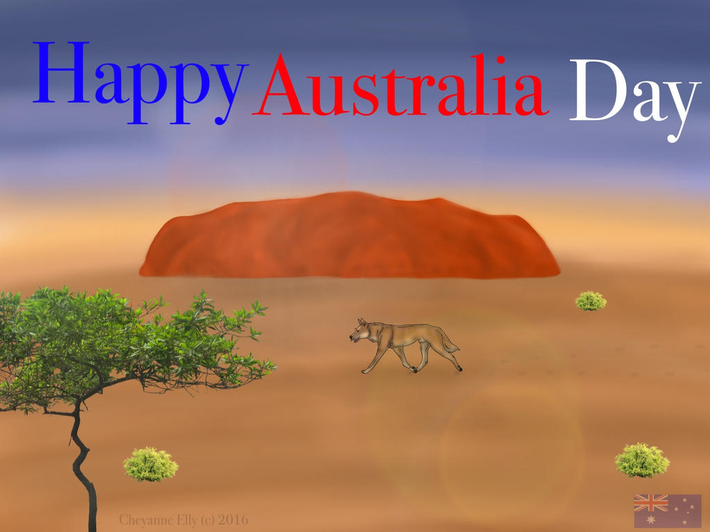 Happy Australia Day everyone by blueshinewolfstar1