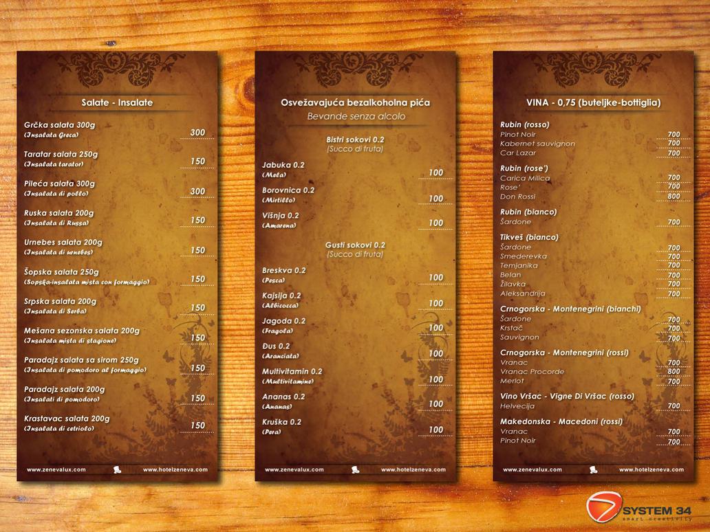Restaurant menu inside by ajranovic on deviantart for Artistic cuisine menu