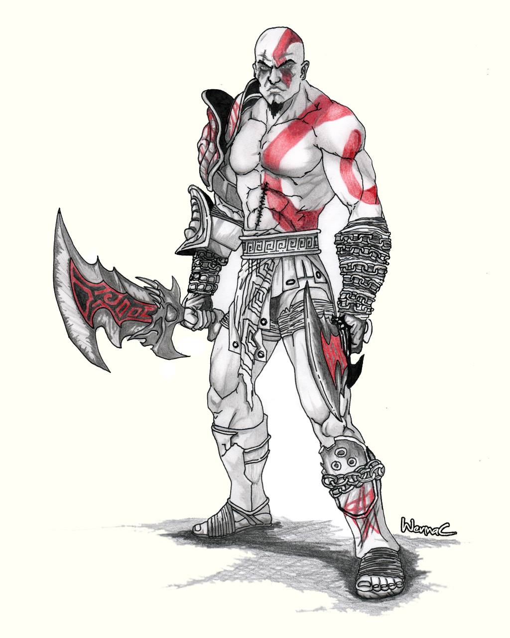 Kratos God Of War Iii By Wermac On Deviantart