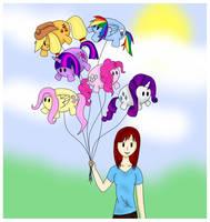 Lauren's Balloons by AlmostBlueKitty