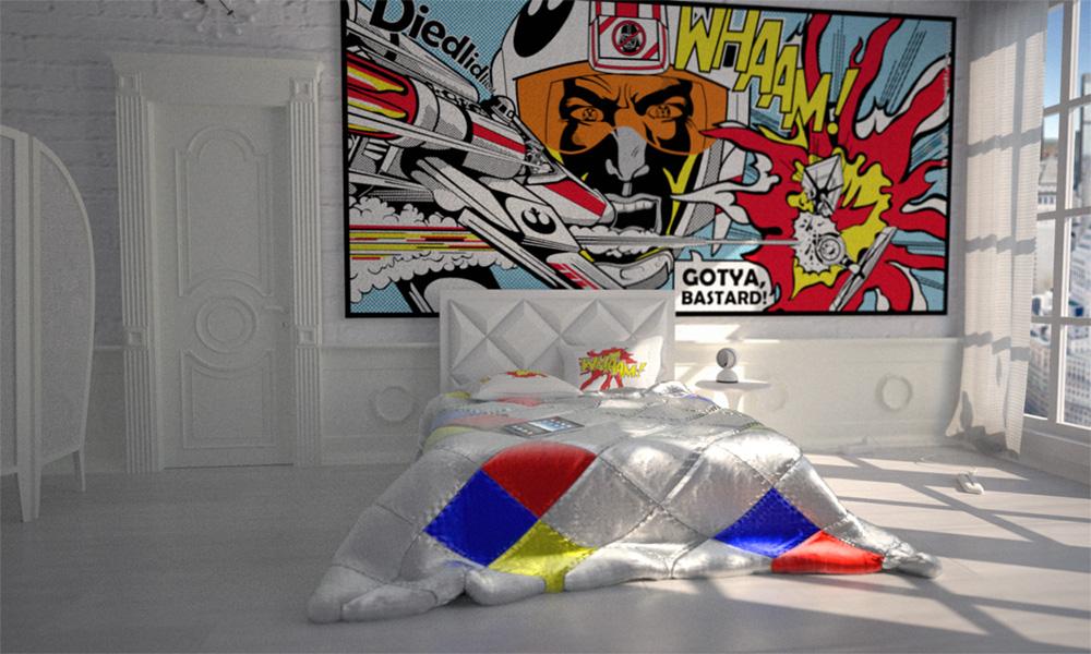 PopArt Interior Bedroom By Bergie81 On DeviantArt