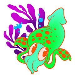 Rainbow Squid by Tikall