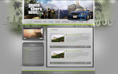 Grand Theft Auto V - webdesign by Raverin-SK