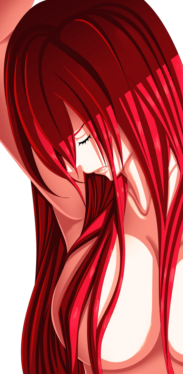 Fairy Tail Drawings Erza Erza Commission 24 Col...
