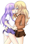 Vert and Nepgear Commission 1 Coloring