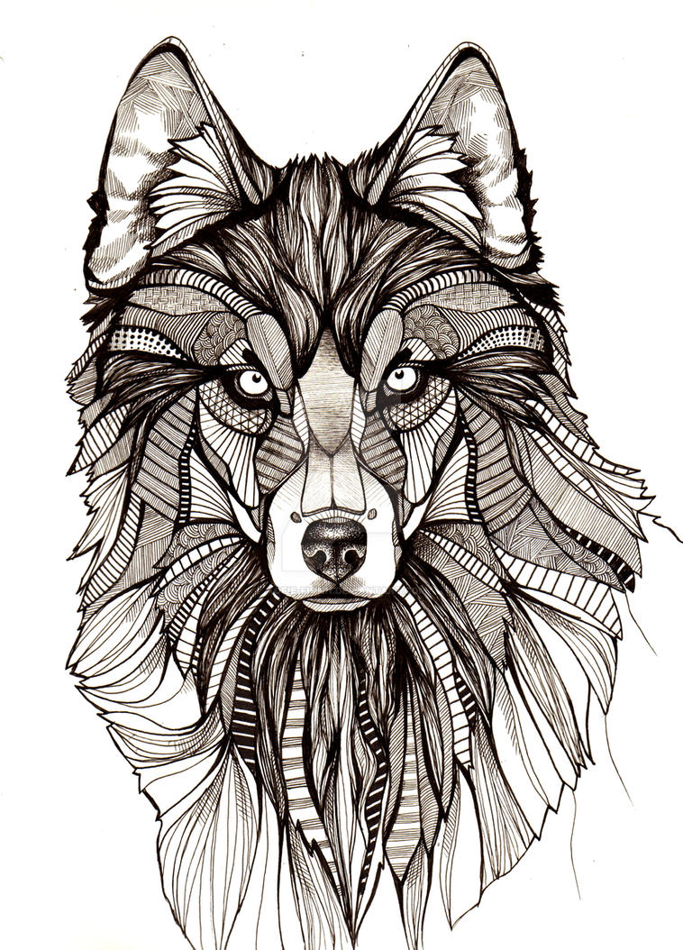 Khs digital media arts cool and detailed wolf drawing for Cool detailed drawings