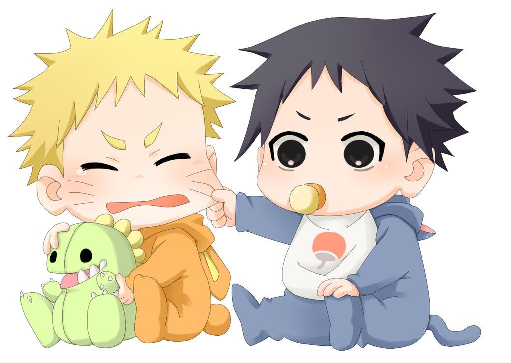 Baby Naruto and Sasuke by Crazy-Hyper-Girl on DeviantArt