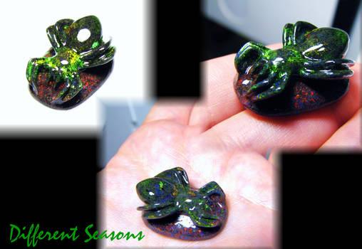 Andamooka Opal Spider Carving