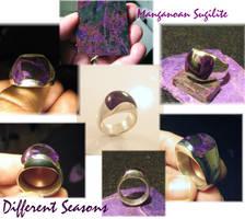 Sugilite Inlay Ring by jessa1155
