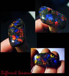 Red and Blue Gem Matrix Opal