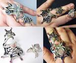 Opal Spiderweb Ring