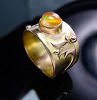 14K Fire Opal Ring II by jessa1155