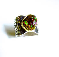 Fire Agate in Flames Ring by jessa1155