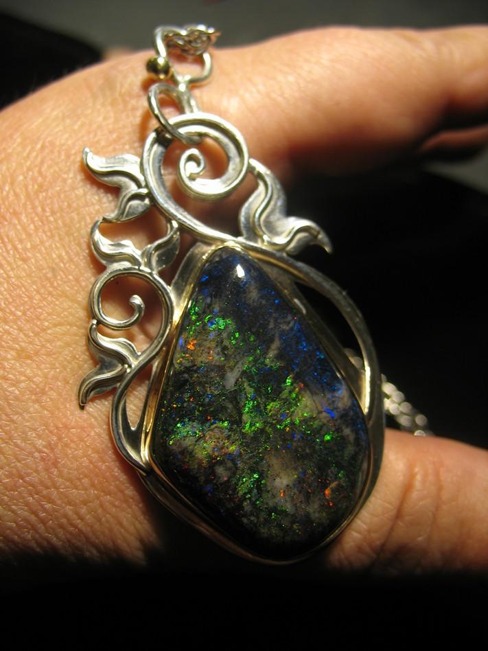 Pierced Opal Pendant by jessa1155