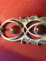 Carnelian Flame Pendant by jessa1155