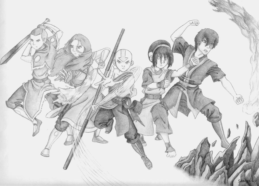 Avatar State Aang Drawings