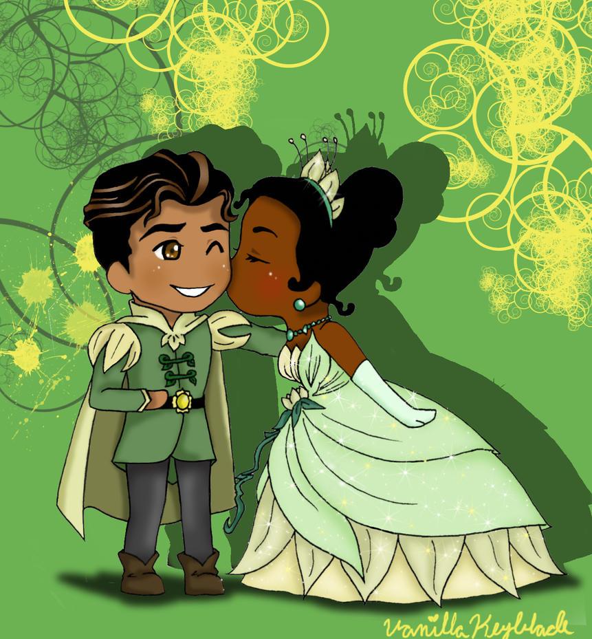 Tiana and Naveen by VanillaDeonna on DeviantArt