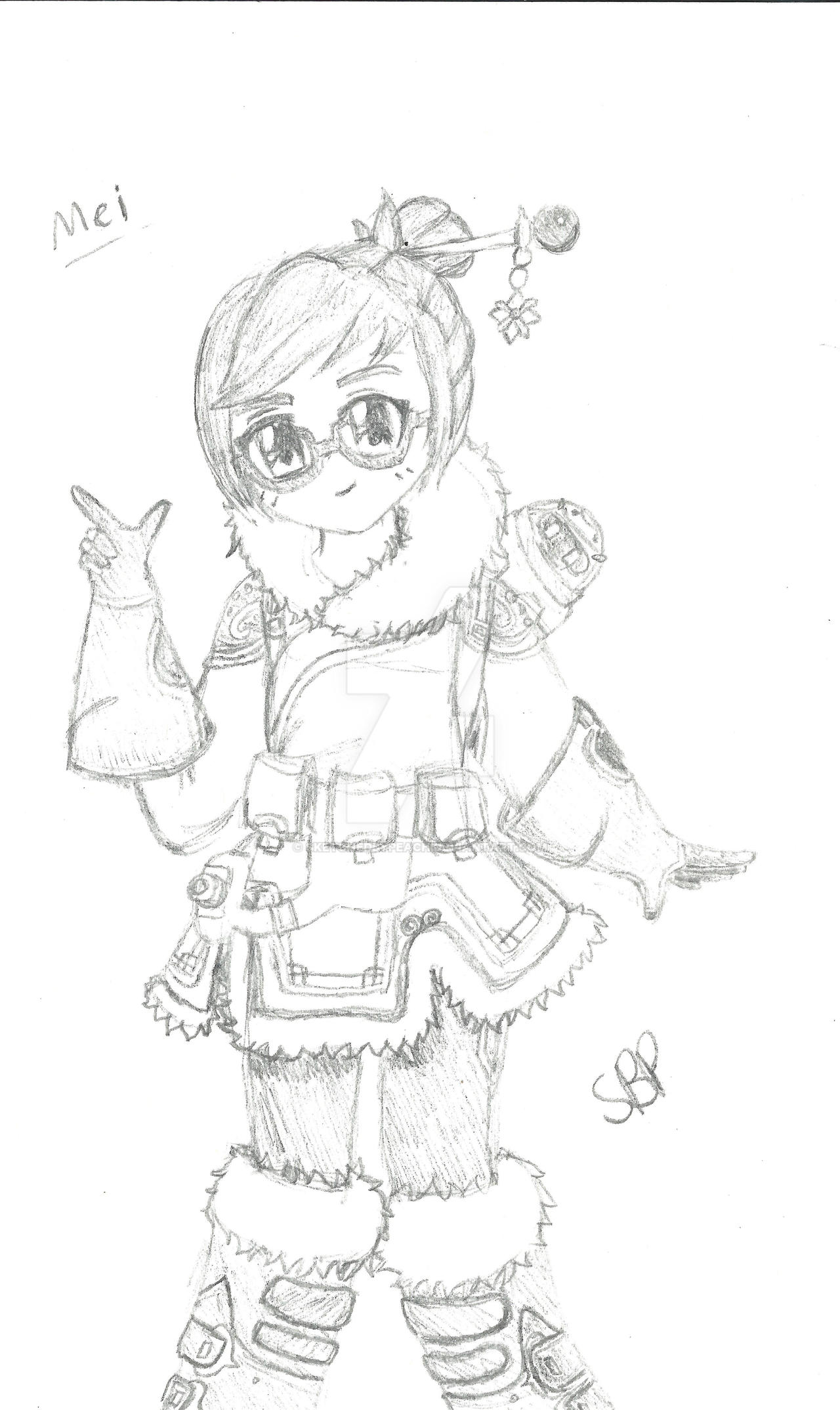 overwatch mei by sketchedbypeach on deviantart