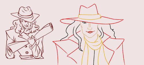 Carmen Sandiego doodles by invisibleheros