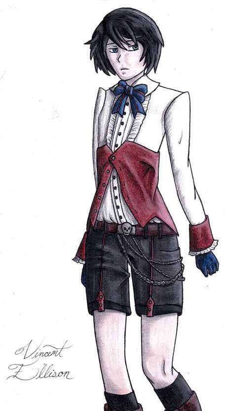 Black Butler (Kuro) OC Vincent Ellison (Colored) by Riku-Love