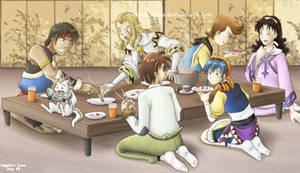 Lunar Food Party by sapphireluna
