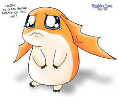Patamon needs a serious hug by sapphireluna
