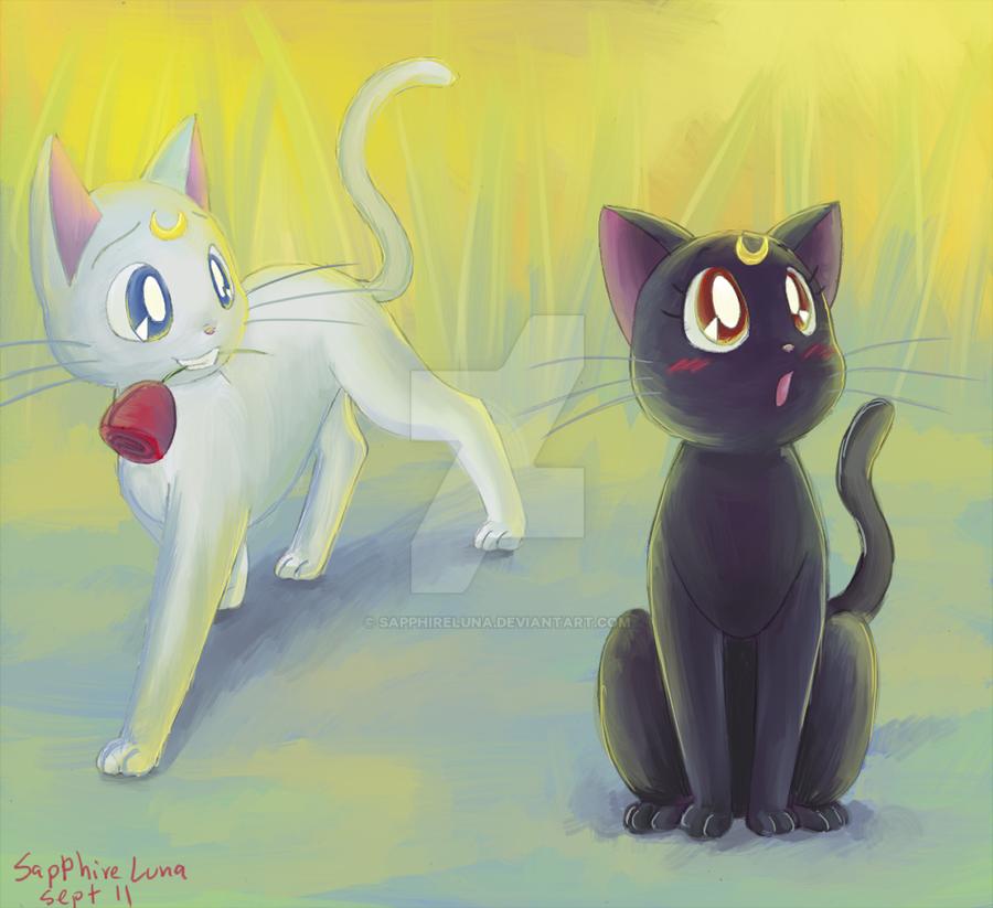 Luna and Artemis by sapphireluna