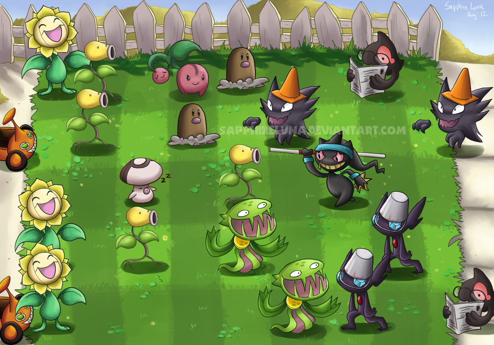 Plants vs Zombies by sapphireluna on DeviantArt