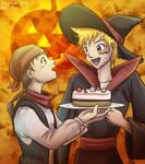 NaruTen Halloween by sapphireluna