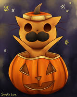 Halloween Mr.Cat by sapphireluna