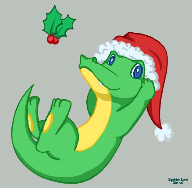 Christmas Crocodile by sapphireluna