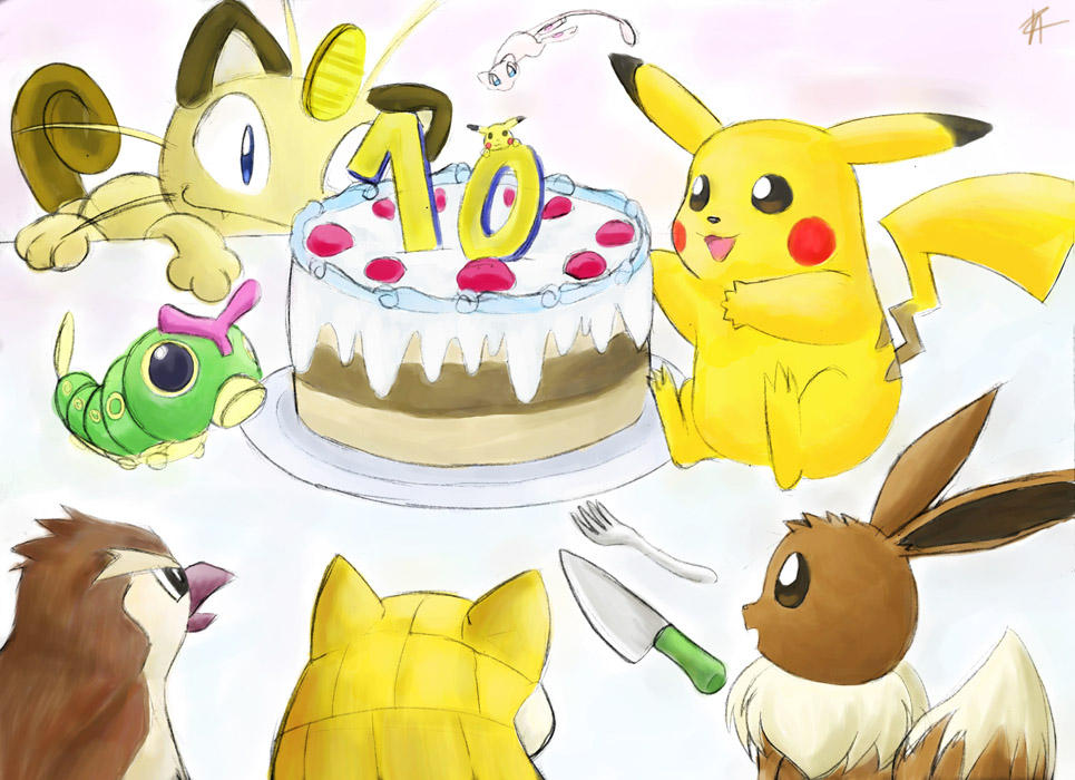Happy 10th birthday Pokemon by sapphireluna on DeviantArt