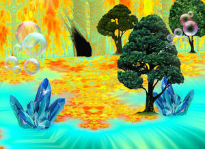 Through the Cave and into the Enchanted Valley II by FlyingMatthew
