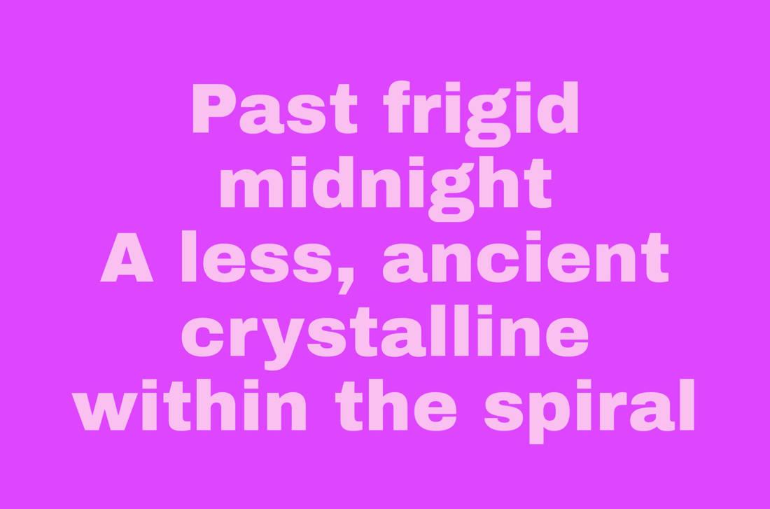 Crystalline - A Haiku