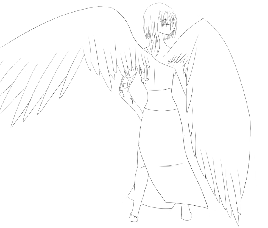 angel wings template outline - photo #30