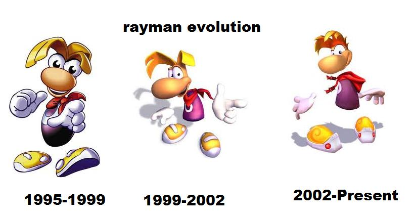 Rayman Evolution 1995-2010 by mcsteve11 on DeviantArt