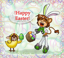 Happy Easter .:AT Sunny:. by Sy-Creich
