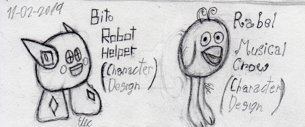 (TRAD ART) Character Designs: Bito and Rabel by Thunderblade2001