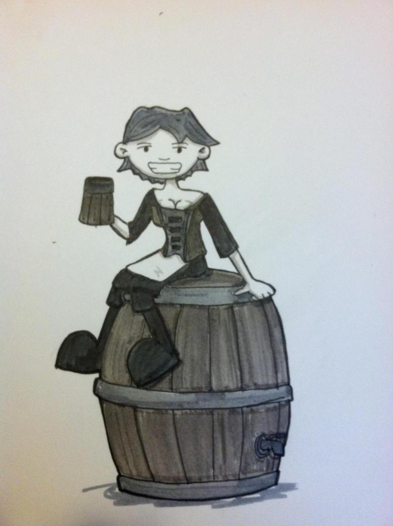 Tavern Beer Wench by GeneralFouFou