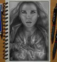 Scarlet Witch Sketch by Gem-D