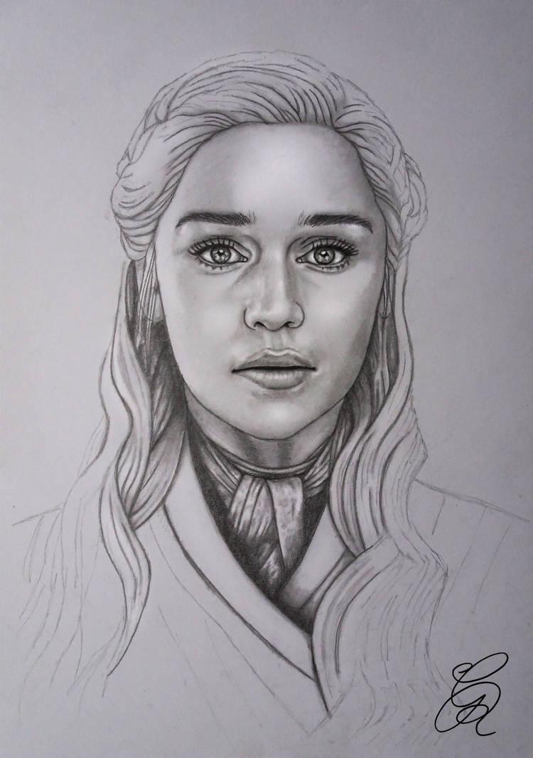 Daenerys Sketch by Gem-D on DeviantArt