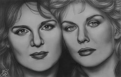 Ann and Nancy Wilson (of Heart) sketch
